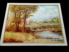 Vintage Framed Art Oil Painting, Signed, Countryside- Nature