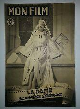 MON FILM N° 184  LA DAME AU MANTEAU D'HERMINE  Harry DAVENPORT  Jean MARAIS