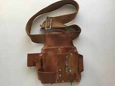Custom Leathercraft W500 Electrician's Tool Pouch, Top Grain Leather, 8-Pocket