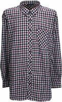 Espionage Large Gingham Check Long Sleeve Button Down Collar Shirt