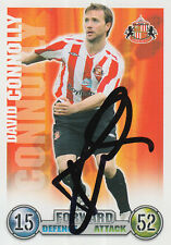 SUNDERLAND HAND SIGNED DAVID CONNOLLY MATCH ATTAX CARD 07/08.