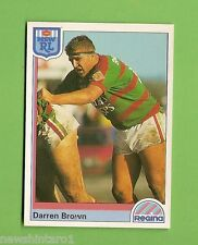 1992  RUGBY LEAGUE CARD #24  DARREN BROWN, SOUTH SYDNEY RABBITOHS