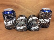 Busch Light Real Tree Mossy Oak Camo Beer Koozies ~ Set Of 4 ~NEW & F/Shipn.