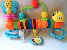 BLUE BOX BRIGHT COLORFUL STROLLER PRAM BABY ACTIVITY TOY BEES PINK BLUE UNISEX