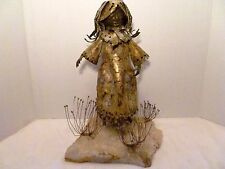 "M.C.M 13"" C. Jeré FLOWER GARDEN GIRL Brutalist Art METAL SCULPTURE"