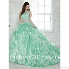 Min Two Pieces Quinceanera Dresses Ball Gown Formal Prom Pageant Dresses Custom