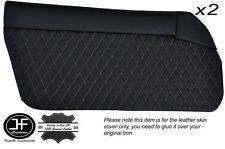 Bronceado Diamante St 2x Puerta Tarjeta cubiertas de cuero se adapta a Mazda Mx5 Mk1 Miata Jdm 89-97