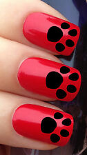 NAIL Art Set # 308. x24 ANIMAL Cat Dog Paw Print ACQUA trasferimenti / Decalcomanie / Adesivi