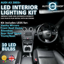Audi A3 8PA 2003 & gt Led Interior Upgrade Kit Completo Conjunto De Bulbo Xenon Smd Blanco