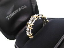 TIFFANY & CO. JEAN SCHLUMBERGER 16 STONE DIAMOND RING 18K GOLD SIZE 7