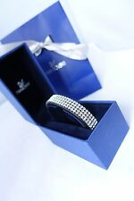 Genuine Swarovski Golf crystal black leather bracelet RRP£109birthday Valentine'