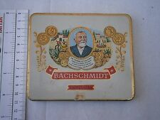 BACHSCHMIDT Cigarette case,metal tobacco box,smoking German Brasil,Alt Blechdose