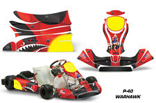 AMR Racing Graphics KG Freeline Birel Cadet Sticker Kits Decals WAR HAWK RED