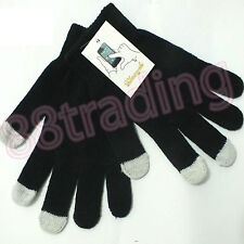 Black Winter Men Women Touch Screen Knit Gloves Text Capacitive Smartphone