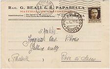 FERRARA - MATERIALI DA COSTRUZIONE - REALI E PAPARELLA 1938