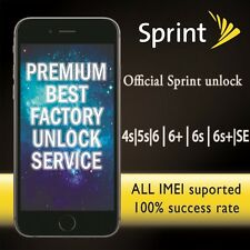SPRINT FACTORY UNLOCK PREMIUM SERVICE IPHONE 5 5s SE 6s 6 6+ 6s+ UNPAID ALL IMEI