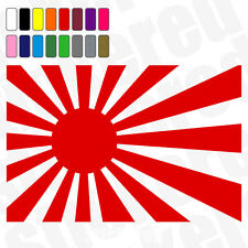 2 X Japan Rising Sun Flag Jdm coche van ventana Stickers Calcomanías 100mm 10 Cm De Ancho