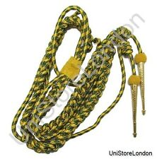 Aiguillette Gold Green Army Full Size Gold Tags- R159