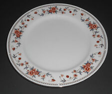 Sheffield Anniversary 10 1/4 inch Dinner Plate White with Rust Blue Flowers VG