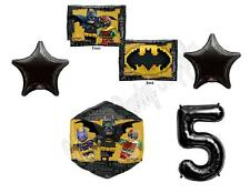 5th BATMAN LEGO MOVIE Birthday Party Balloons Decoration Supplies Robin Fifth