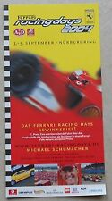 Ferrari racing Days Nurburgring 2004 Flyer no brochure depliant livre book press