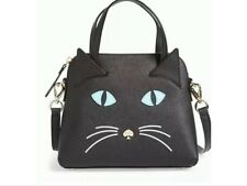 BRAND NEW IN PACKAGING KATE SPADE BLACK/MULTIPLE CAT'S MEOW CAT SMALL MAISE-RARE