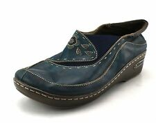 Women's SPRING STEP Dark Teal Leather Casual Shoes Size 9