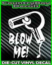 BLOW ME Blow Dryer * Vinyl Decal Sticker * Hair Dresser Stylist Beauty Salon Fun
