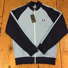 Fred Perry  Bomber Track Jacket Jacket Alaskan Blue J6232 - Medium