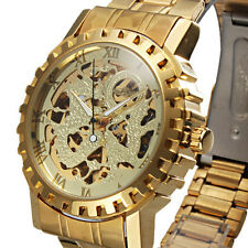 Winner Automatic Stainless Steel Skeleton Roman Numerals Watch - New