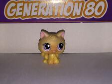 Littlest PetShop CHATON JAUNE YEUX VIOLETS 2048 I004 KITTY CAT Pet Shop