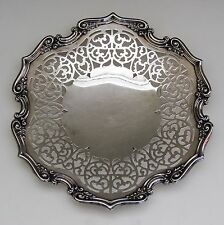 Antique Ornate Reticulated Signed Gorham Sterling Silver Plate/Charger/Tray