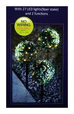 LED jardin solaire POWERED éclairage extérieur énergie balle sphère enjeux lot de 3