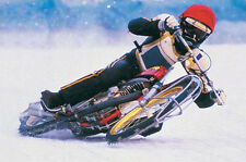ICE TRACK RACER Motocross Motorcycle Winter Racing Super Action POSTER