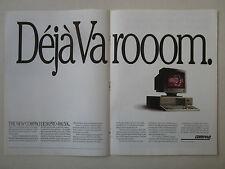 8/1991 PUB COMPAQ PERSONAL COMPUTER PC ORDINATEUR DESKPRO 486/50L ORIGINAL AD