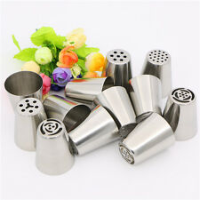 12Pcs Russian Tulip Flower Cake Icing Piping Nozzles Decorating Tips Baking Set
