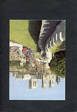 Posted 1991 View of Buses, Cars, People & York Minister from City Walls