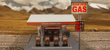 1/64 Slot Car HO Gas Station Photo Real Scale Diorama Scenery Kit Track Layout