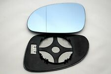 VW GOLF MK5  2003-2009  WING MIRROR GLASS ASPHERIC HEATED BLUE  LEFT
