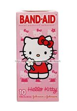**HELLO KITTY By SANRIO 10pc Sterile Adhesive BAND-AID Bandages FIRST AID Boxed