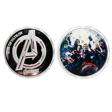 MARVEL UNIVERSE 1 PC SILVER PLATED COIN AGE OF ULTRON THE AVENGERS THOR IRONMAN