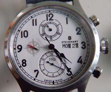 STEINHART Automatico Valjoux 7750 Marine Cronografo Watch Uhr Montre Orologio Da