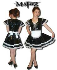 Misfitz black pvc  glamour sissy maids dress sizes 8-32/made to measure/TV fit