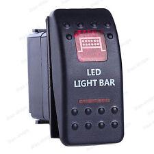 5-Pin LED Light Bar SPST ON/OFF Red LED Indicator Rocker Switch For Fog light