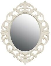 Cream Baroque Rococo Ornate Vintage Antique Style Oval Wall Mirror Next Day Desp
