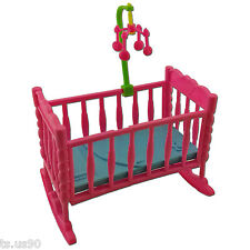 Nursery Rocking Cradle Bed 1:6 Barbie Kelly Doll's House Dollhouse Furniture