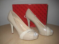 Guess Shoes Size 8.5 M Womens New Hershe Light Natural Open Toe Pumps