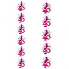 7ft Pink 40th Birthday Party Cascade Column Decoration
