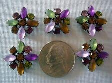 2 Hole Slider Beads X-Flower Dark Mixed Crystal Made with Swarovski Elements #5