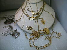 Vintage 10 Necklace/Choker Lot, 1970-80's, Silver & Gold Tone, Varying lengths